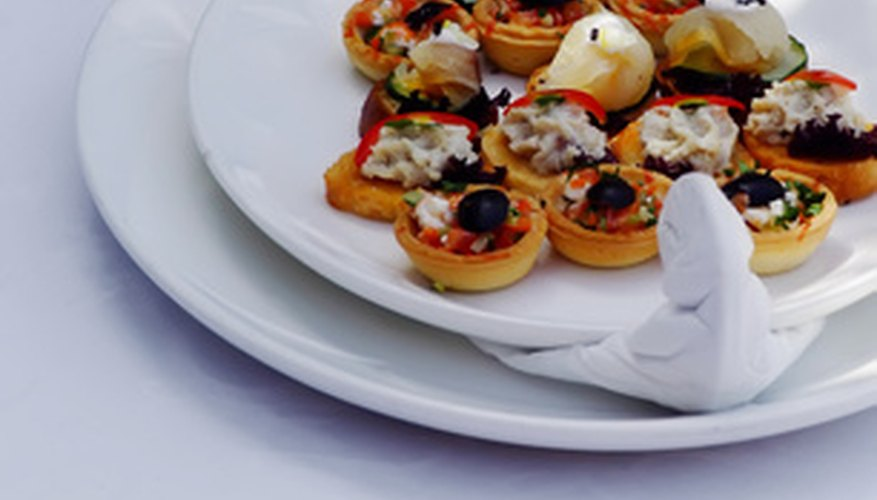 Canapes and appetizers can be ideal finger foods for golden anniversary parties.
