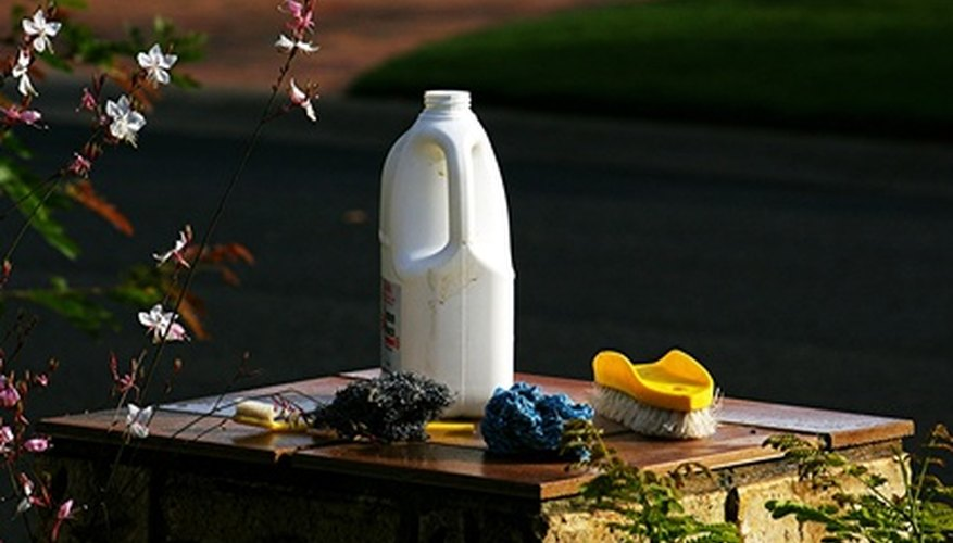 Calcium hypochlorite is used as an alternative to bleach.