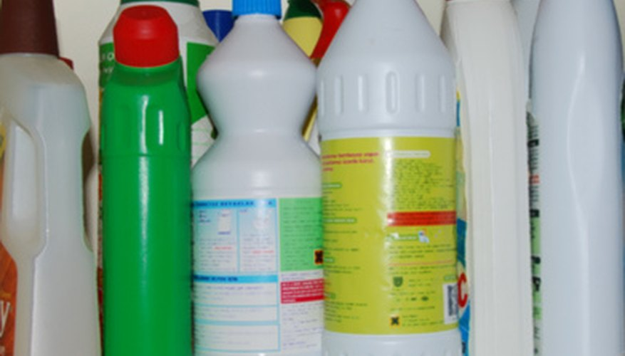 You can pour bleach down a sink but not with other cleaners and chemicals.