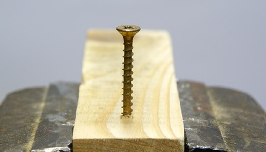 Wood screws are easy to work with.