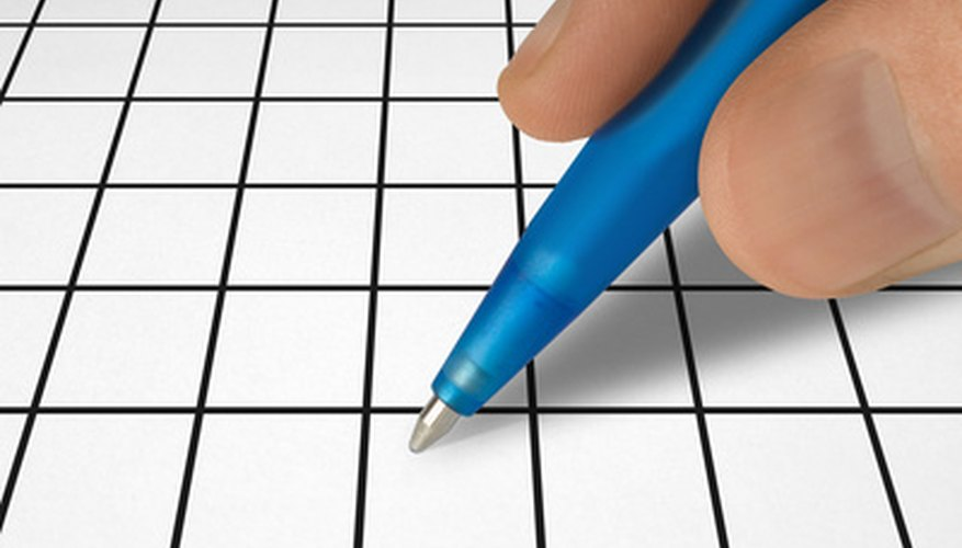 Use graph paper to draw your crossword puzzle.