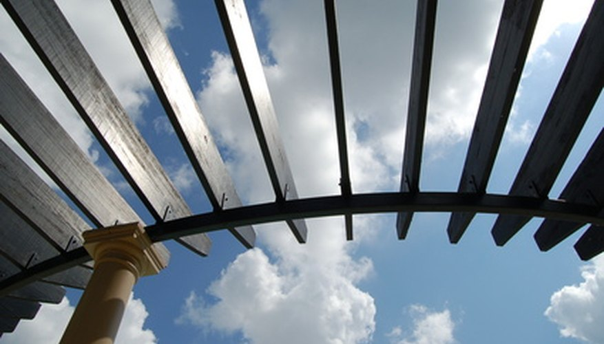 Pergolas can start to lean but may be easily fixed.