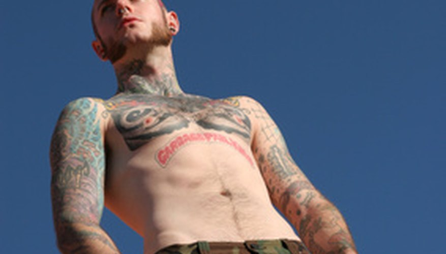A reasonably tattooed person can still find a place in the Royal Marines.