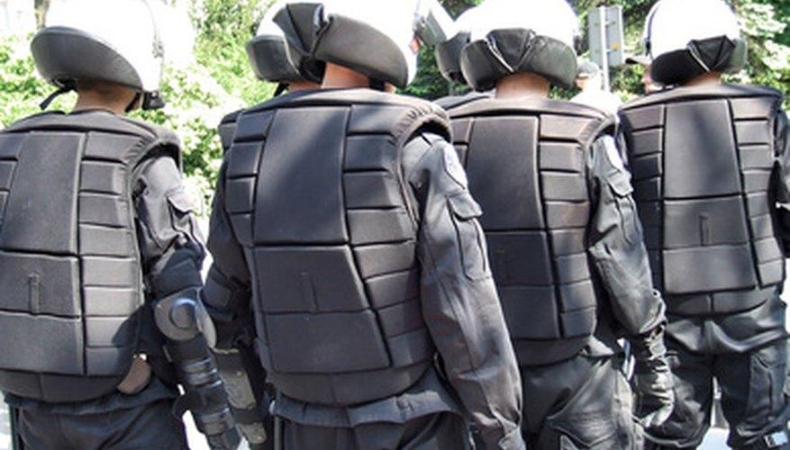 Police teams are organised like military units.