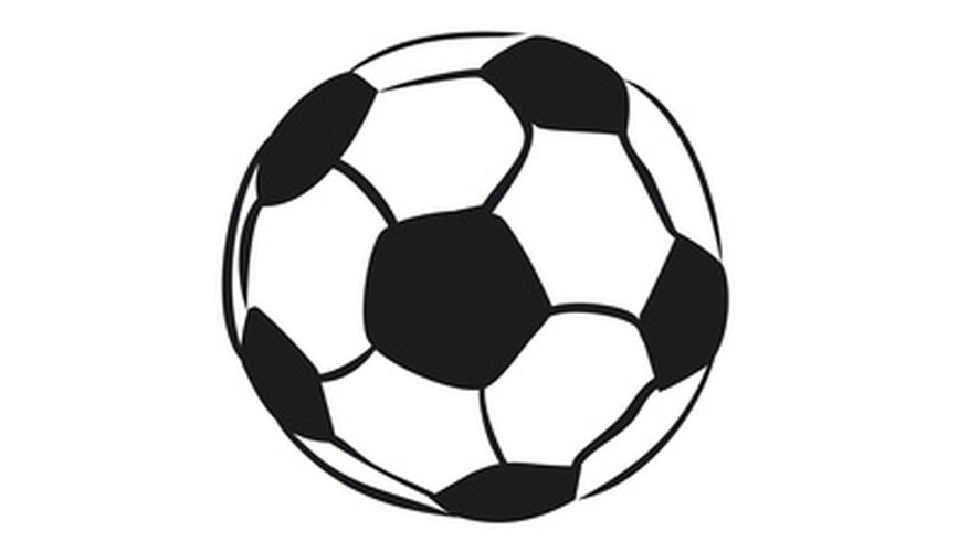 To create a sphere-shaped soccer ball costume, use black and white fabric.