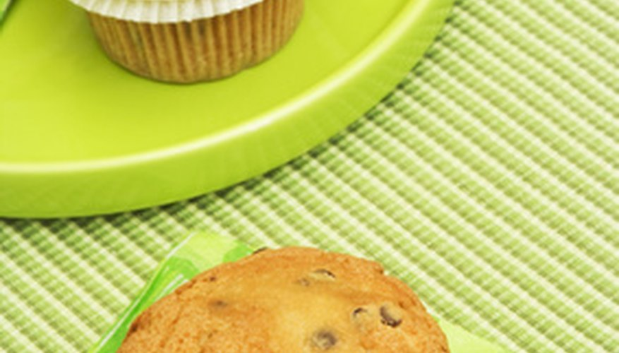 Reheat muffins in the oven or microwave.