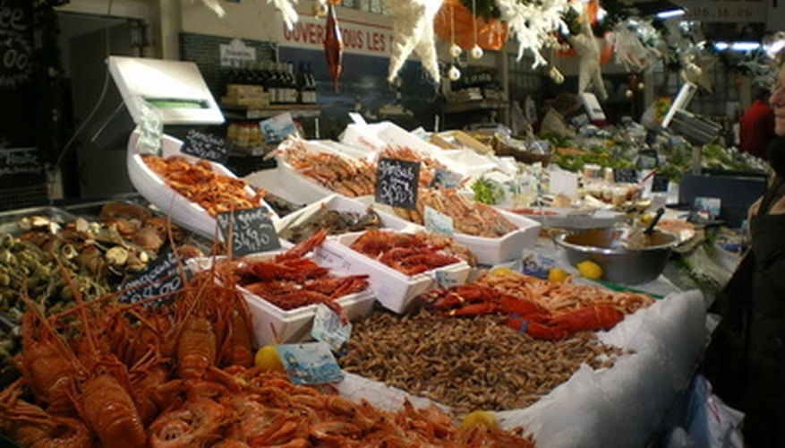 A busy market is an ideal subject for a descriptive essay.