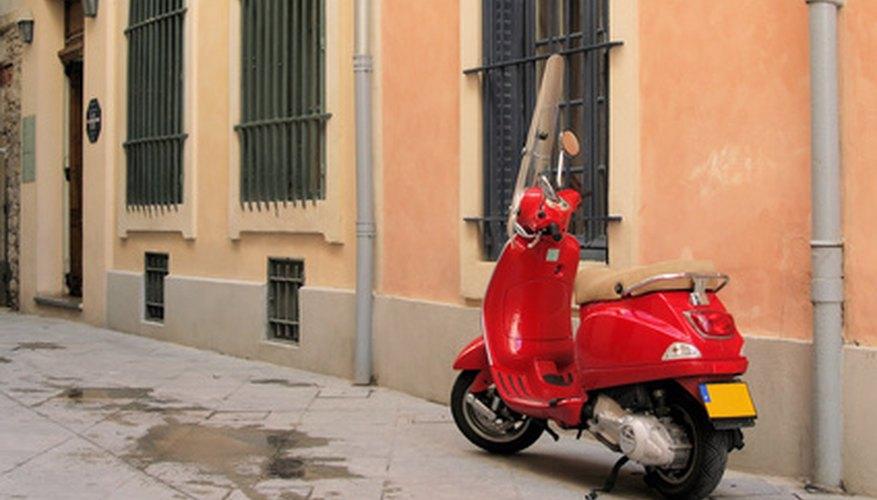 A modern vespa scooter.