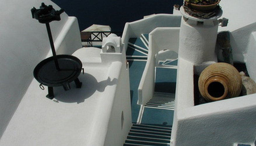 You can make your own model of a typical Greek dwelling with whitewashed walls.
