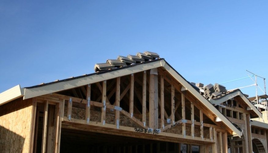 Felt is commonly applied underneath new roof shingles.