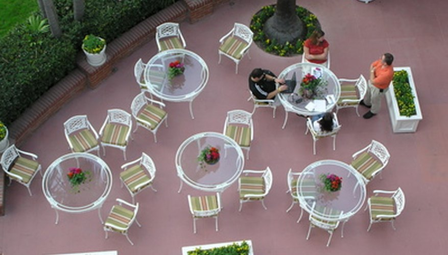 Patio sling chairs are comfortable and you can refurbish them rather than replace them.