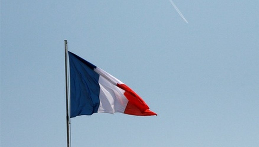 The national flag of France.