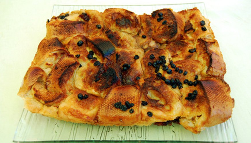 Frozen bread and butter pudding should be stored in an airtight container.