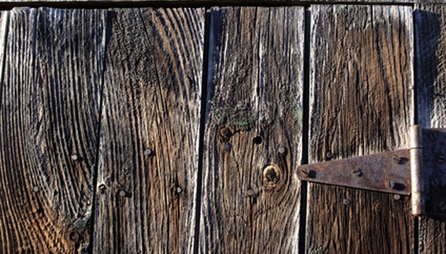 Board and batten doors are commonly used on barns.
