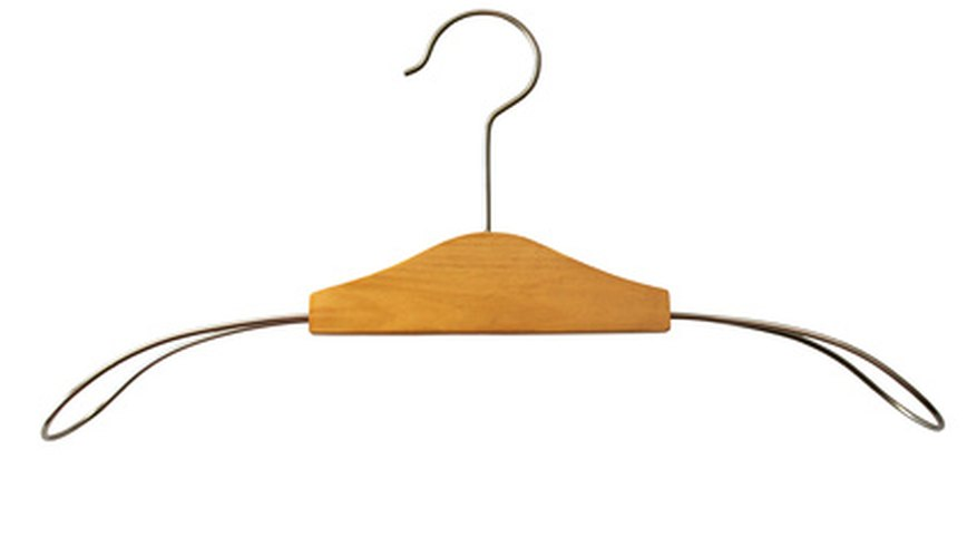 Avoid thicker wire hangers that can be harder to bend.