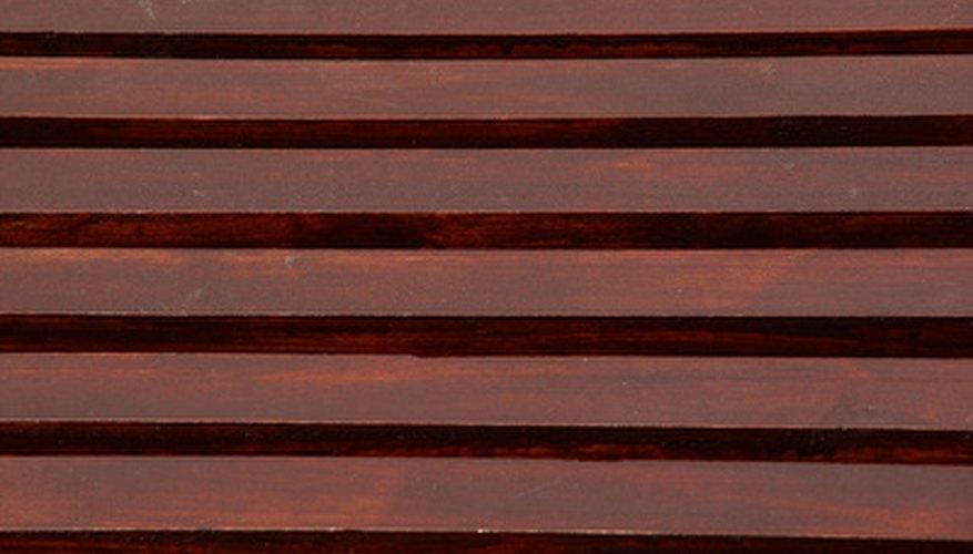 Mahogany has a dinstinctive reddish hue to it.