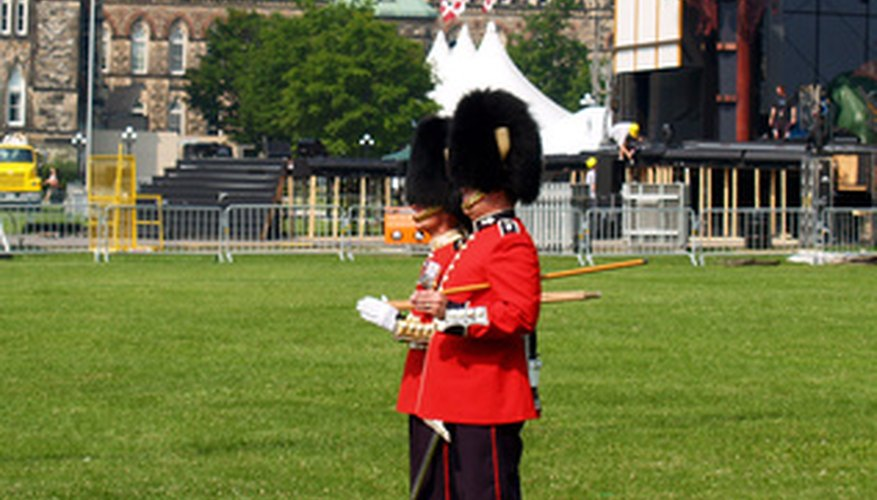 Royal Guard are military people who guard a king and/or queen.