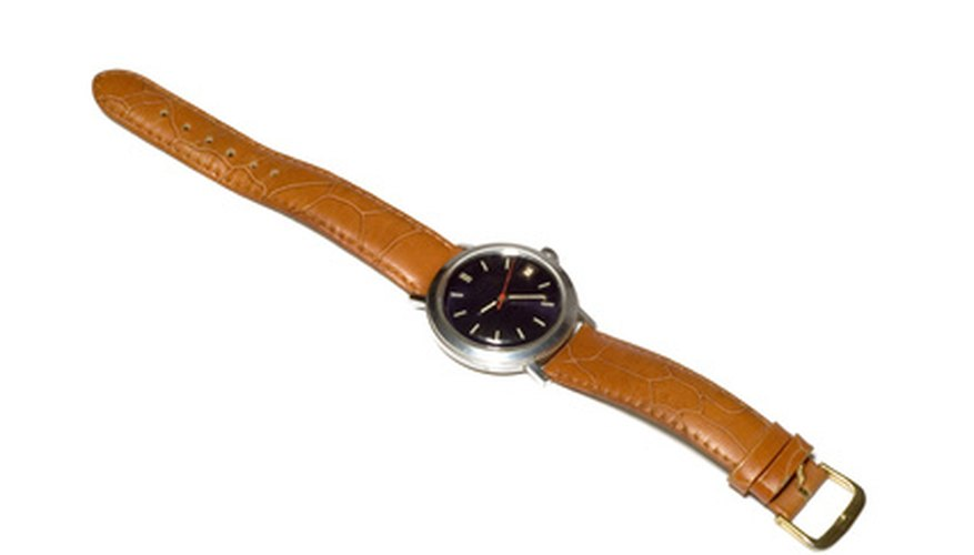 Repairing cracks in your watchband will improve its appearance.