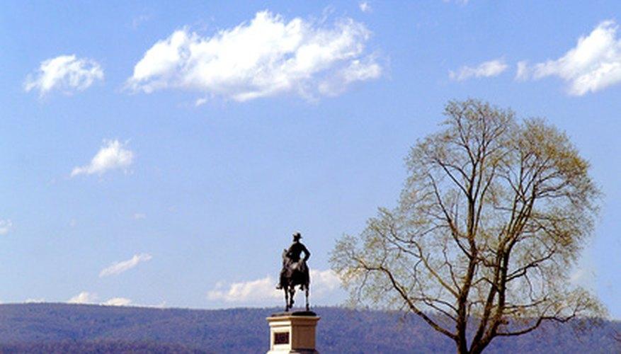 Memorial to Union General Hancock on the Gettysburg battlefield.