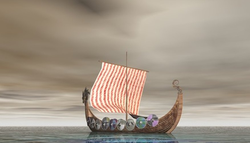 Viking longboats carried adventurers to new sites.