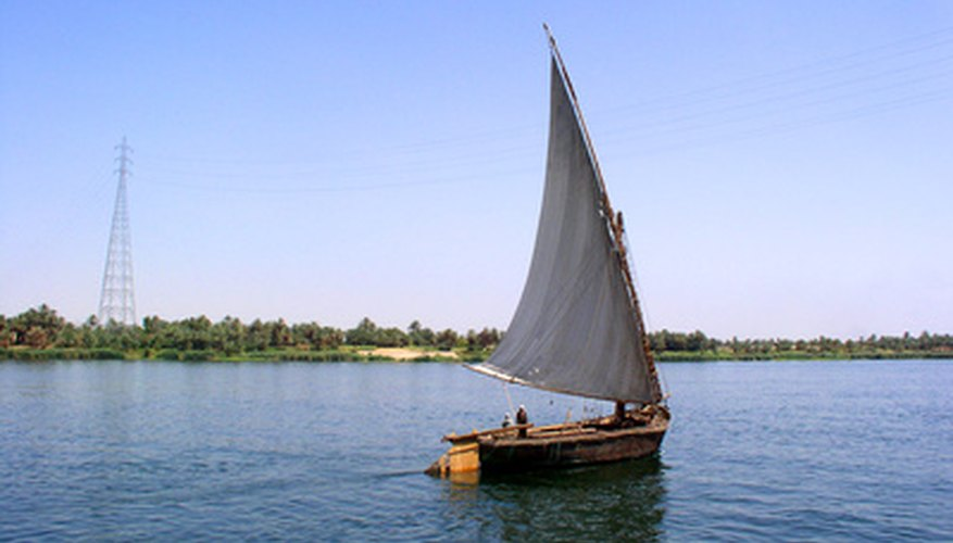 Sailboats rely on wind to move across the water.