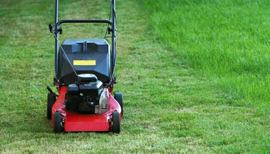 Lawn mowers are equipped with small engines.