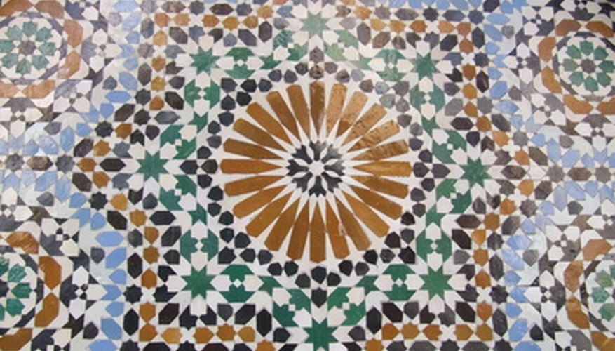 Ceramic glazing can be removed by sanding the surface of tile or other ceramic product.