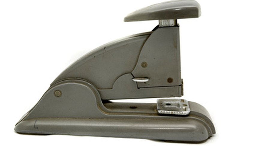 This heavy-duty stapler needs thicker staples to drive through larger stacks of paper.