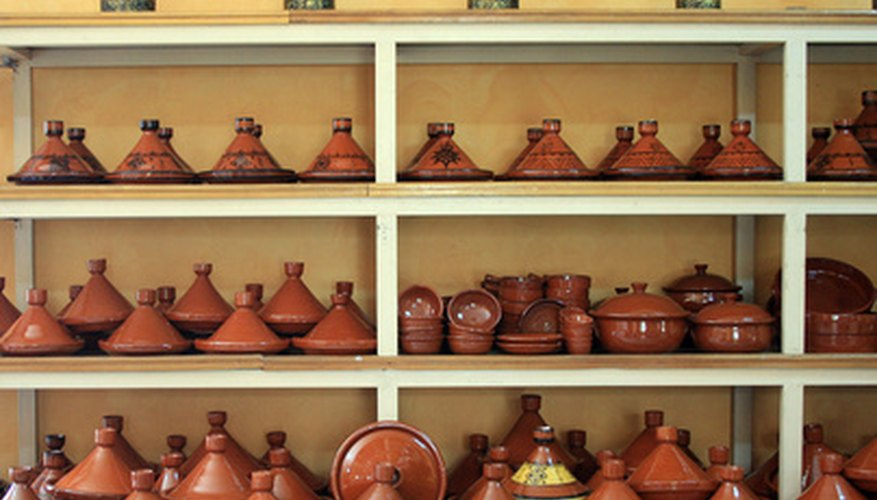The distinctive conical shape of a tagine pot can be used for cooking stew or bread.
