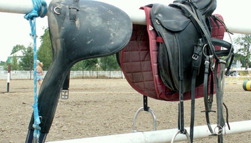 Saddles can scuff in a fall to the ground.