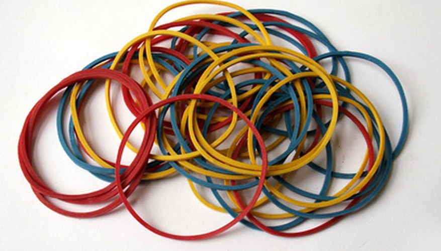 Rubber bracelets can be made smaller.