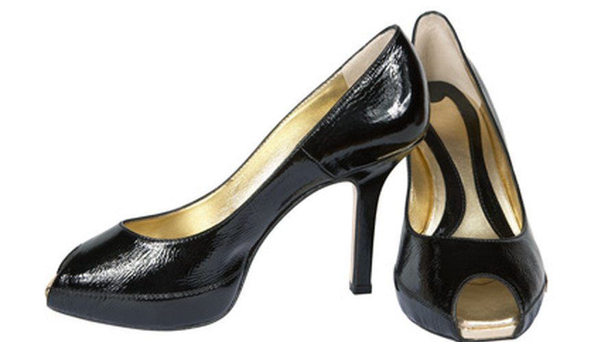Patent leather is a leather with a high gloss, shiny finish.