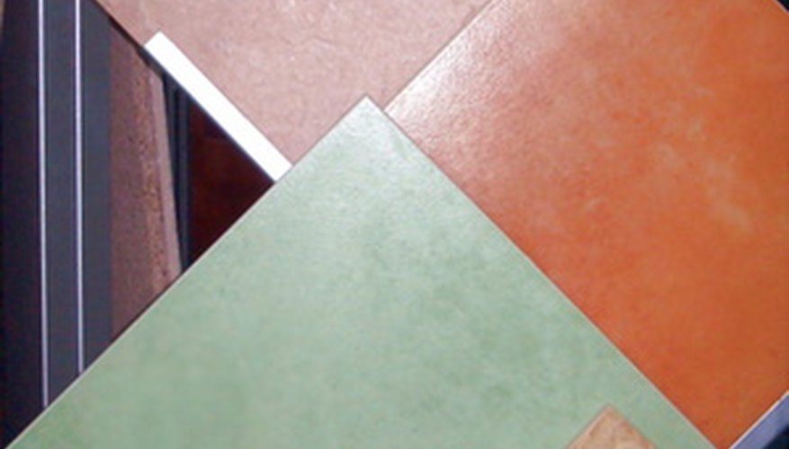 Textured ceramic tile has a habit of holding dirt, but vinegar, baking soda, and water are all it takes to restore tile to its original beauty.