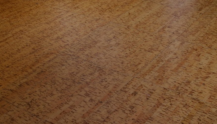 Stains can be removed from vinyl floors with certain solutions.