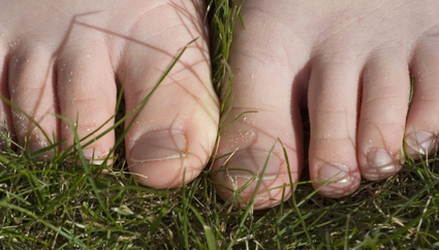 Remove grass stains from skin using common household items.