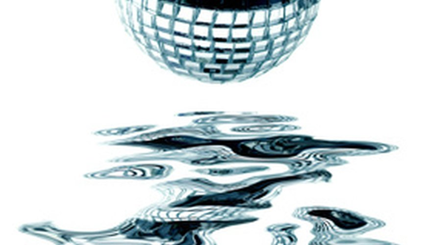 Look at pictures of disco balls to find colours and patterns that you want to emulate with your baked version.