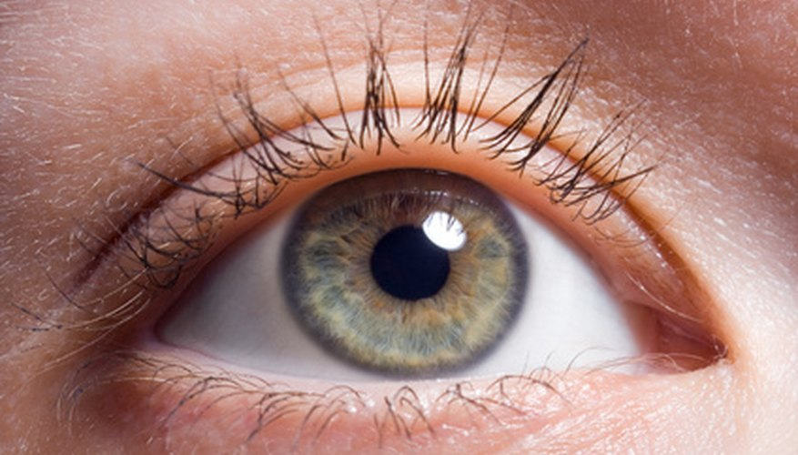 Healthy sclera is primarily white, but may have other colour changes that are normal as well.