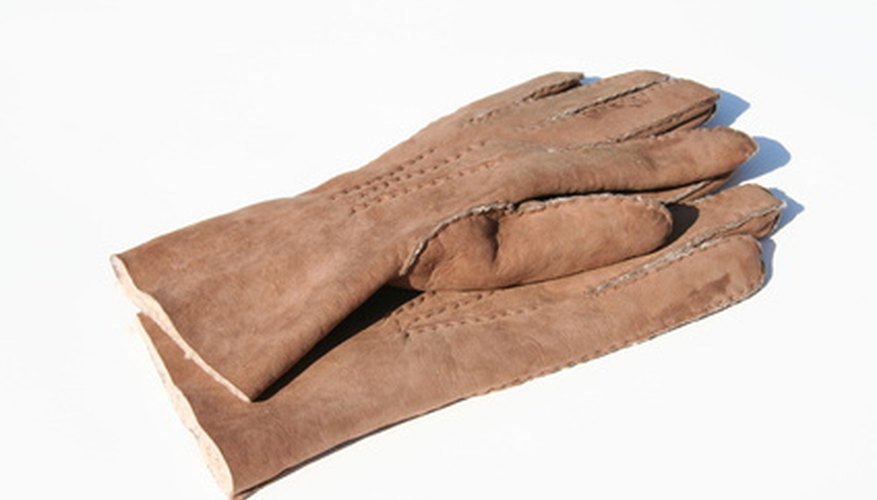 Sheepskin is used not just in coats, but for gloves as well.