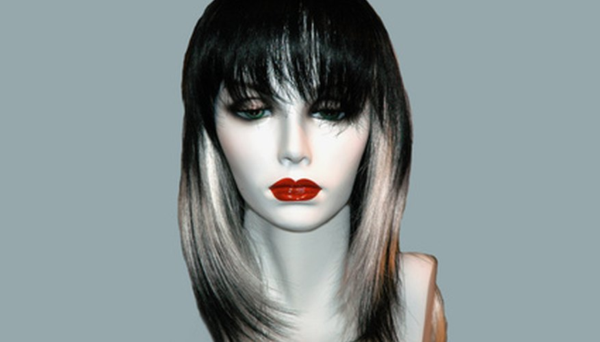 Synthetic wigs of all colours require special cleaning and care to help them last longer.