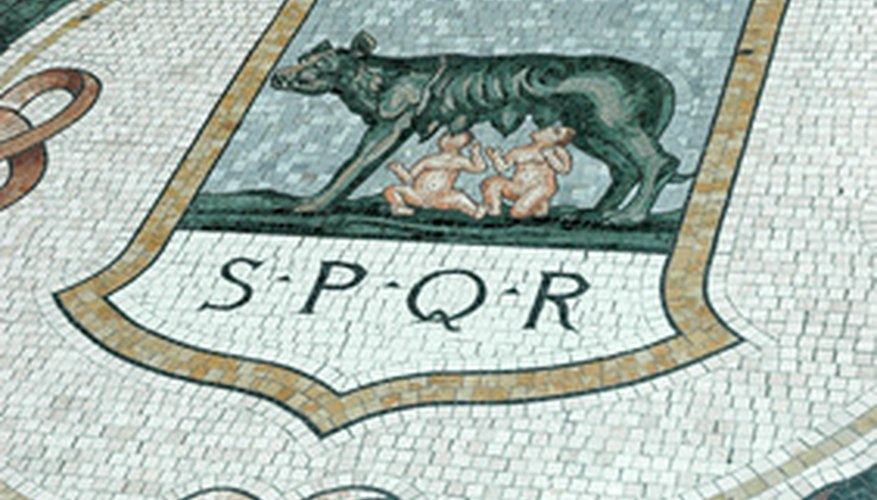 Mosaics like this were commonly used in ancient Roman times.