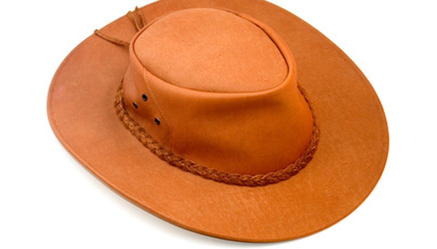There are a number of different ways to stretch a leather hat back into wearable condition.