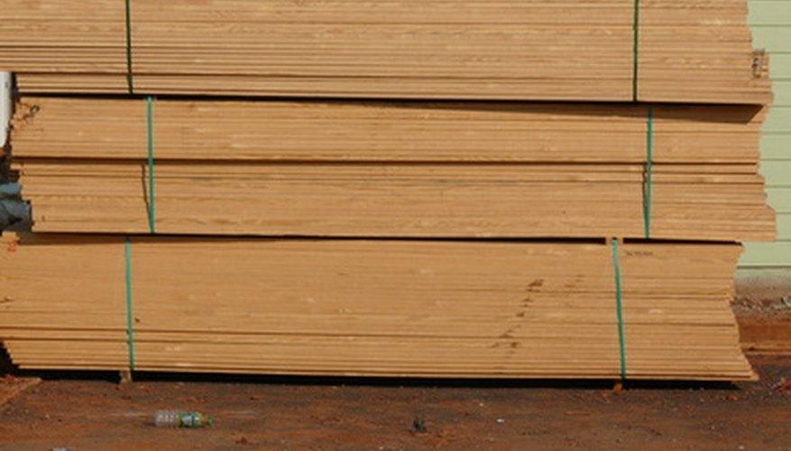 Paquetes de madera.