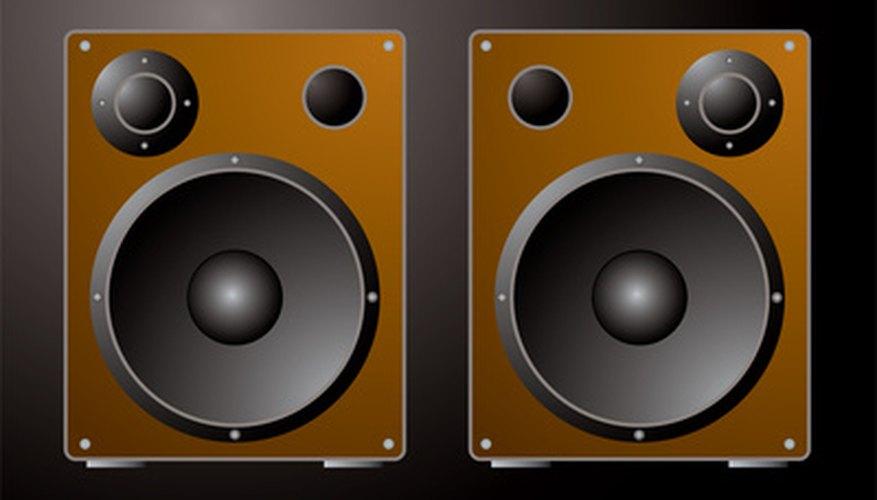 A pair of bass reflex speakers