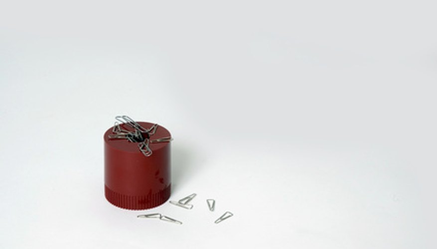 Unlike a standard magnet, an electromagnet connects to a power source.