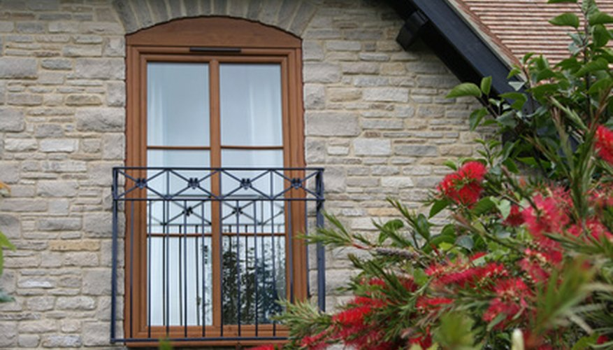 Exterior French doors let in light and provide a great view.