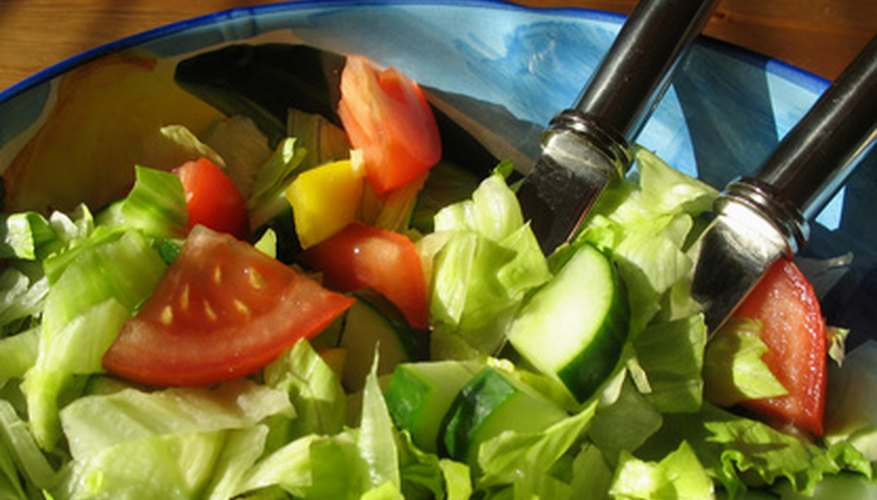 Greens are a major alkaline food, which is why salads packed with vegetables can help balance pH.