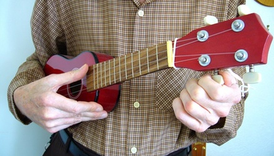 Ukuleles come in four sizes of differing pitches.
