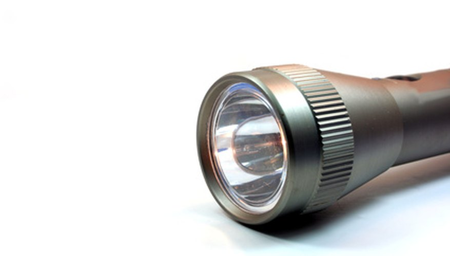 A flashlight's beam is intense and focused.