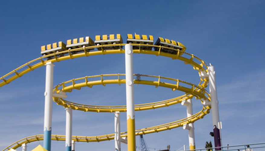 Some amusement park patrons experience stomach pain when riding roller coasters.