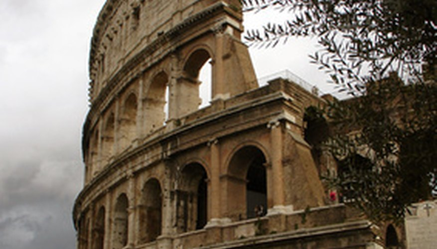 The Colosseum was heavily damaged in the Middle Ages.